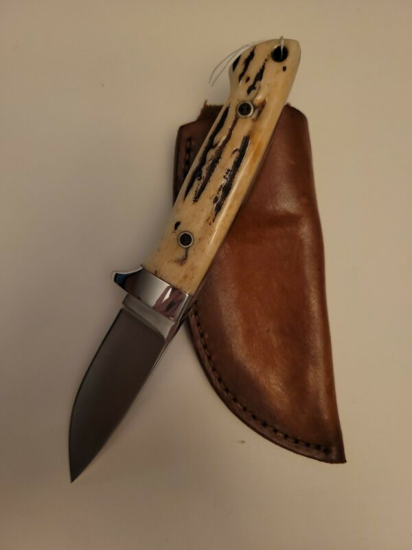 Colin Cox White Grip (stag handle) Skinner Knife