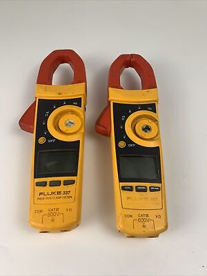 Fluke 337 Clamp Meters Lot Of 2 For Parts