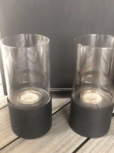 2 Table Top Glass Fire Pots including  Fuel