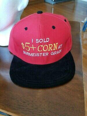 Vintage Farm Grain Advertising Adjustable Snapback Farmer Trucker Hat Cap
