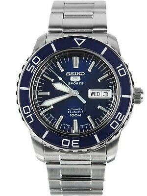 SEIKO SNZH53J1,Men's Sport,Automatic,Stainless steel,Rotating Bezel,date,100m WR