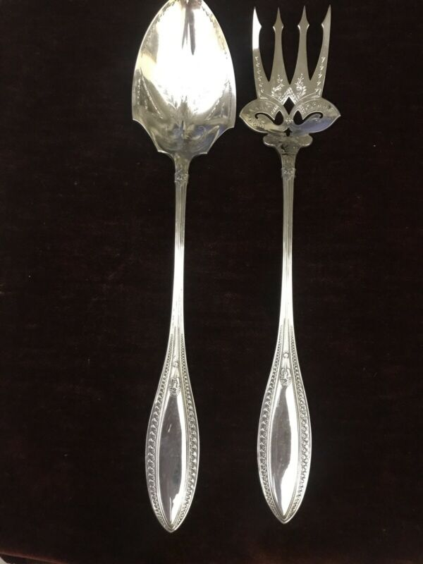 """Whiting Indian Sterling 12 1/2"""" Salad Set"""