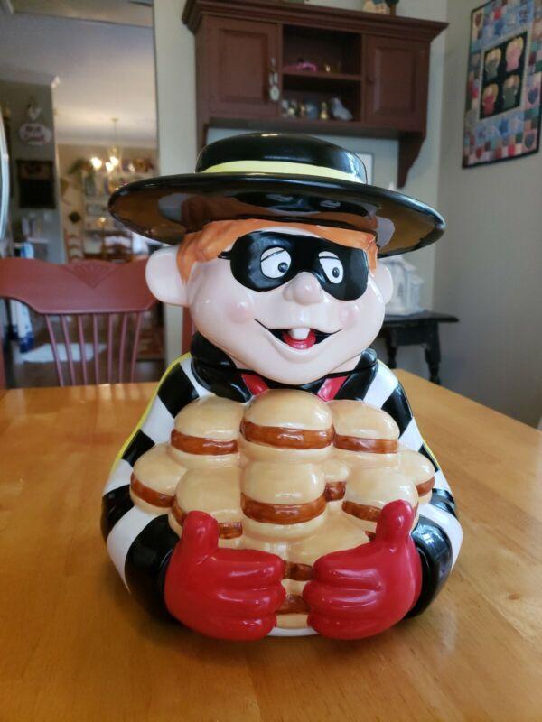 """""""Hamburgler"""" Vintage Treasure Craft Cookie Jar 12""""×10""""×9""""   McDonald"""