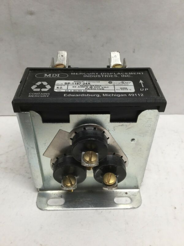 MDI SP-1187-24A Mercury Contactor for Frymaster Part #807-1071