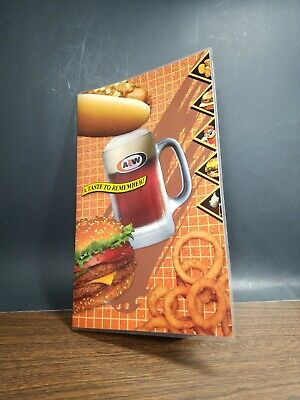 A&W  root beer collectibles 1993 menu