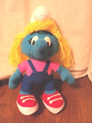 "Smurf Smurfette Peyo 11"" Plush 1996"