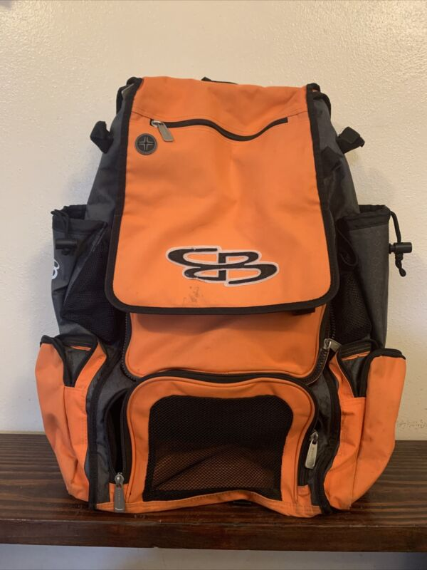 Boombah Baseball Softball Bat Sport Equipment Backpack orange & black Bag