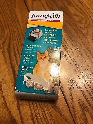 LitterMaid Odor Absorbing Litter Box Carbon Filters Housebreaking Litter 12 pack