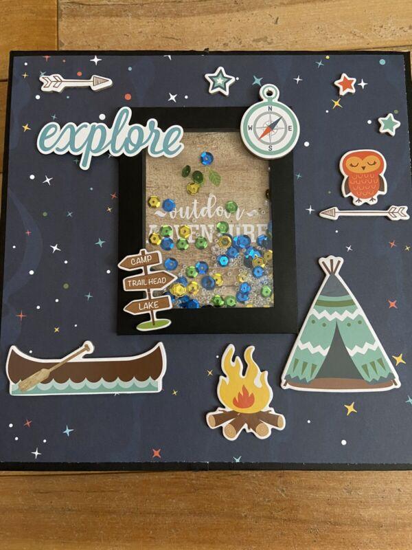 Handmade Scrapbook Album Folio Summer Adventure Echo Park
