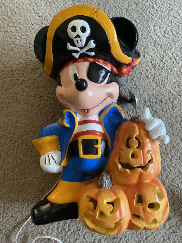 1997 Disney Mickey Unlimited Jumbo Lite-Up Halloween Totem Pirate Mickey Mouse