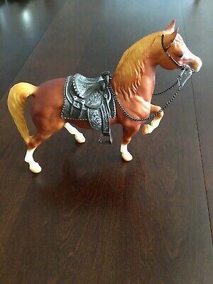 Breyer Molding Co Vintage Horse With Saddle And Colt 45 Bridle