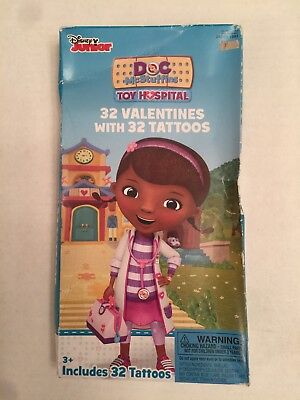 Doc Mcstuffins Valentines Tattoos 32 Each NWT Toy Hospital Disney Junior New Set - Doc Mcstuffins Tattoos