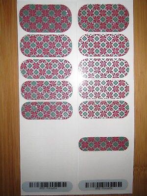 Jamberry Poinsettia Partial Sheet Nail Wraps * Free Same Day Ship ()