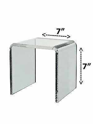 Clear Acrylic Cube Counter Riser Jewelry Pedestal Display Stand 7 X 7