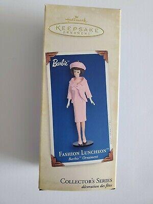 Hallmark Keepsake Barbie Fashion Luncheon Christmas Ornament 2005 New Pink 12th