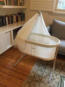 Baby Bjorn bassinet/cradle and canopy with fitted sheets Alexandria Inner Sydney Preview