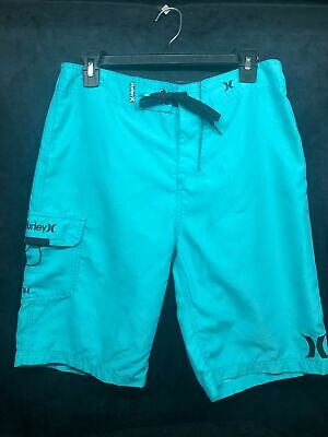 Hurley Men's Board Shorts Size 30 Teal