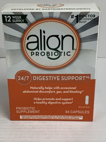 Align Daily Probiotic Capsules 84 Caps 12 Week Digestive System Support Exp10/22