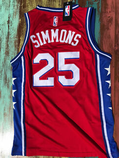 NBA jersey - Simmons #25 Sixers red. Medium adult