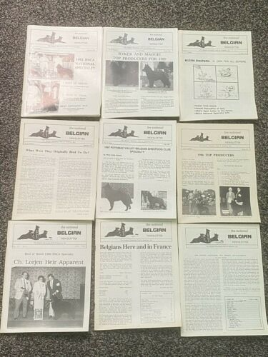 Belgian Sheepdog Club Magazines Lot of Nine VG Condition Sold only to BSCA Rare