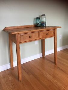 Vintage - Solid Maple Desk with 2 drawers - Hallway Console