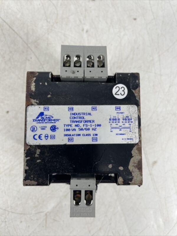 Acme Transformer FS-1-100 FS1100 100VA 100 VA 120/240V HI 24V LO