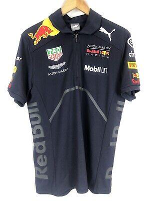 Red Bull Racing F1 Formula One Team PUMA Official Zip Polo Shirt Blue Mens S