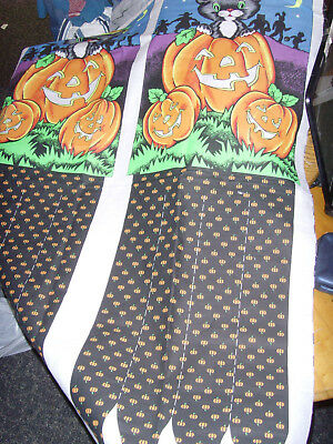 Sew Scary Halloween Windsock Sewing Panel black cat fabric material craft cute - Halloween Windsock