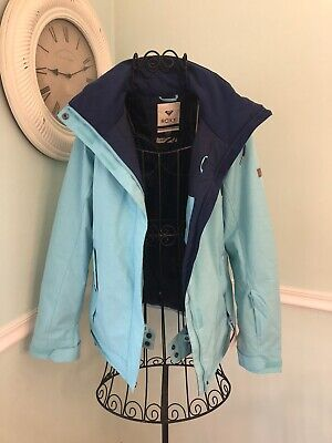 Roxy Snow Snowboard Jacket Turquoise M Ski Dry Flight 10K
