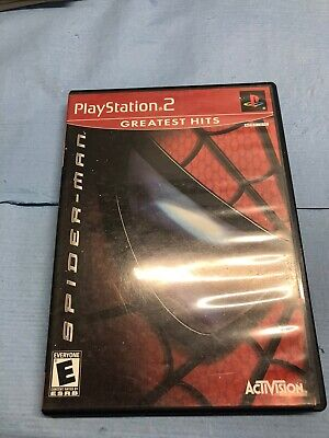 SPIDER-MAN (Sony PlayStation 2 PS2 2002) COMPLETE Tested Working Free Shipping