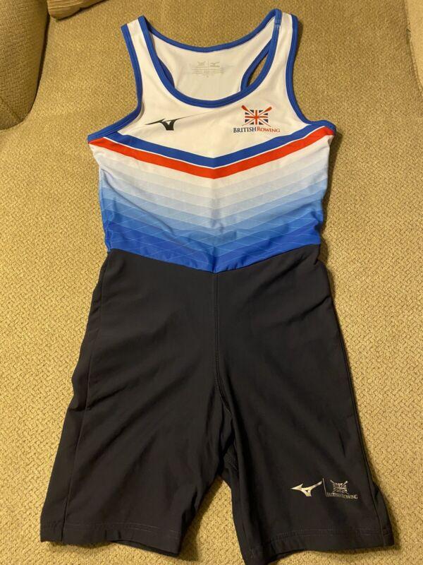 Great Britain British Rowing Mizuno Unisuit Singlet Skinsuit M Unitard