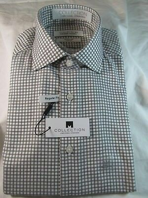 Nwt Collection By Michael Strahan Dress Shirt  Reg  Fit  Black White Grid