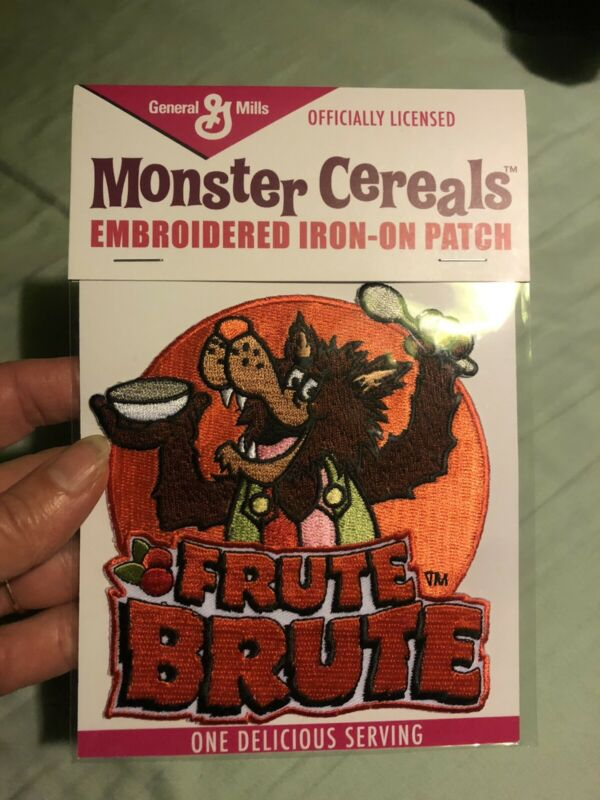 Fruit Brute Embroidered Patch Werewolf In Overalls General Mills Cereal Monster