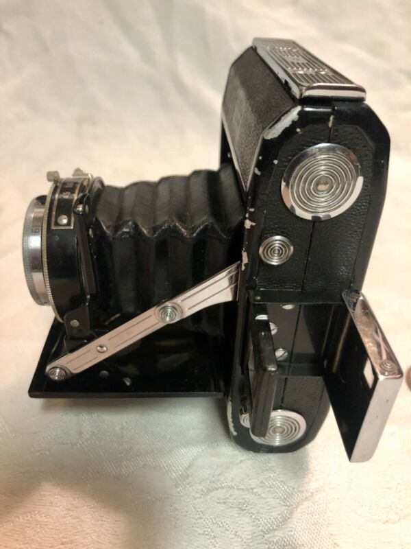 Vintage Zeiss Ikon Camera Leather Slideout Bellows Made In Germany