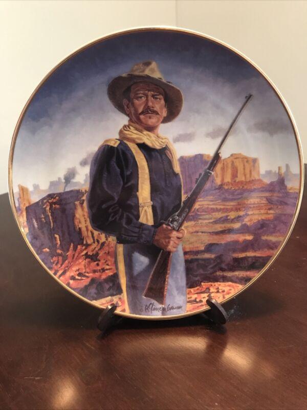 JOHN WAYNE Collector Plate 24K Gold Franklin Mint