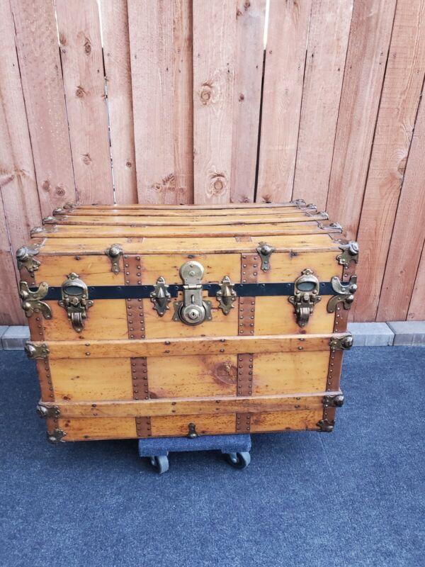 Restored Antique Steamer Trunk or Chest