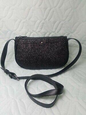 A New Day Black Glitter purse NWOT