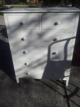 WHITE DRAWERS TALLBOY - DELIVERY Box Hill Whitehorse Area Preview