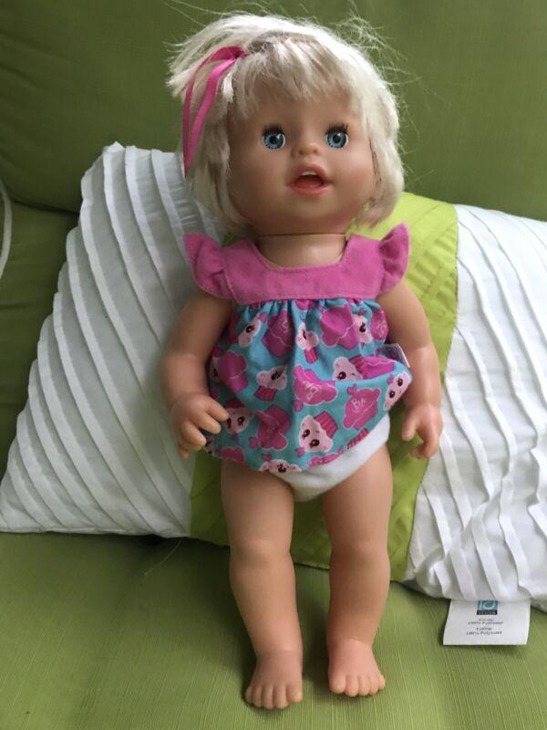 """2007 Mattel Little Mommy- Ah Choo Talking ,Sneezing Baby Doll 14"""" (Works )"""
