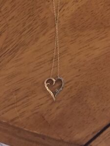 Heart necklace 10k yellow gold