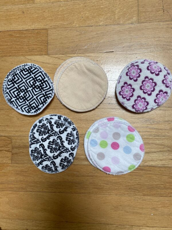 5 Pair Cotton Reuseable Washable Nursing Pads