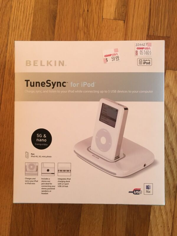 Belkin TuneSync for Apple iPod, Charge Sync and Listen to iPod while connecting