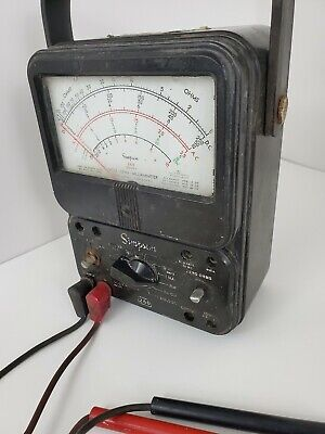 Simpson 260 Series 6 Volt Multimeter Tester Meter W Test Leads - Tested Works