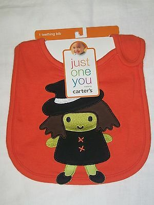 Carters Baby Girl Halloween Witch Teething Bib Trick or Treat NEW