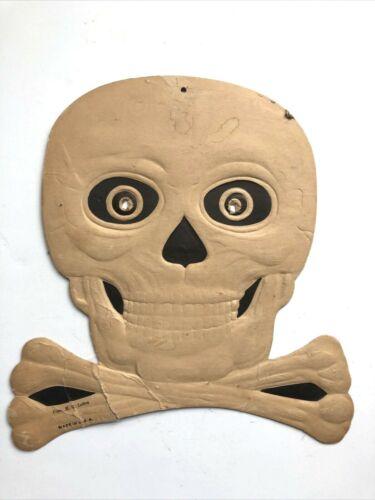 VTG H.E. Luhrs Halloween SKULL WITH  EYES Decoration Cutout