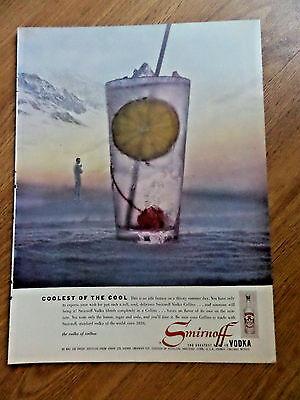 1957 Smirnoff Vodka Ad Vodka Collins Coolest of the Cool