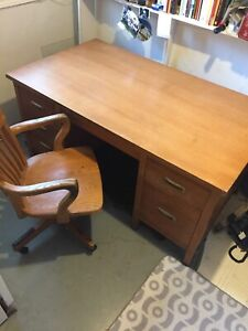Oak Office Desk & Chair