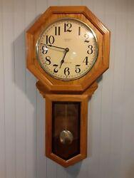 Vintage  Verichron Quartz Westminster Chime Wall Clock