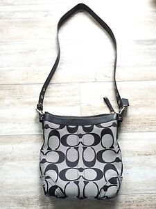 Coach Black Grey Cross Body Bag Purse