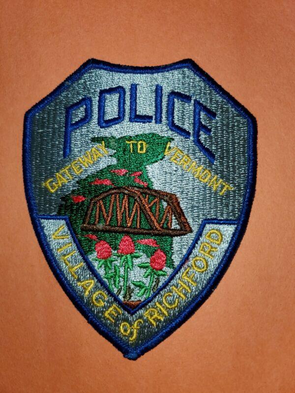 Village of Richford - Gateway to Vermont -Vermont Police Patch